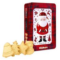 Walkers Shortbread Santa Shortbread Cookie Holiday Tin 250 gr., 6/cs