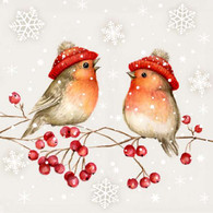 """Lunch Napkins - Birds on a Branch 6.5""""x6.5"""""""