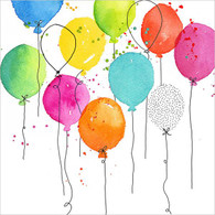 """Lunch napkin - Colorful Balloons 6.5""""x6.5"""""""