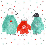 """Lunch Napkins - Christmas Friends 6.5""""x6.5"""""""