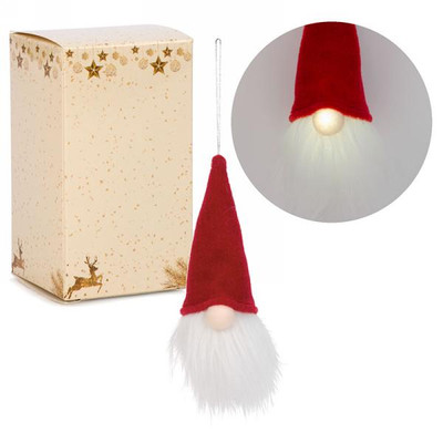 """LED Red hat gnome ornament 3""""x7""""H"""