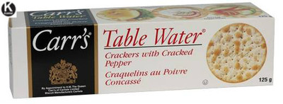 Carr's Table water crackers with cracked pepper 125 gr., 12/c