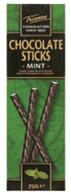 Trianon chocolate sticks - Mint 75 gr., 12/cs