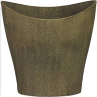 "Fiberglass planter in Antique Limestone finish 17.5""x15.5""x15""H"