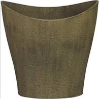 """Fiberglass planter in Antique Limestone finish 17.5""""x15.5""""x15""""H"""