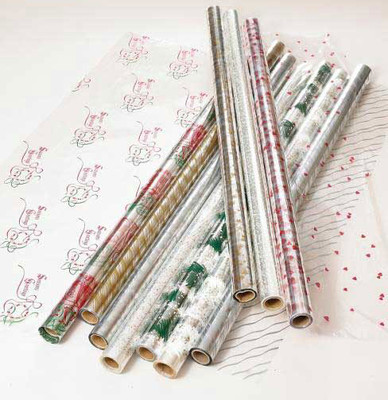 "Printed Cellophane roll 40""x100' Please pick a pattern."