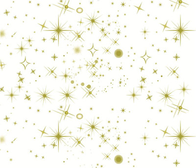 """GOLD STARS Printed Cellophane roll  40""""x100'"""