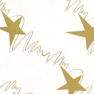 "GOLD & SILVER shooting stars Printed Cellophane roll  40""x100'"