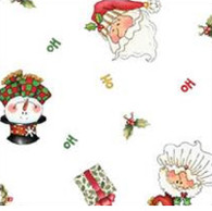 "HO HO HOLIDAY Printed Cellophane roll 40""x100'"