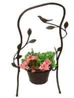 "Metal planter stand with 1 pot 9.5""x8.5""x5.5""Hx20"" OH (min 2)"