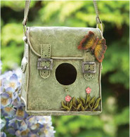 "CRL384BF – Polyresin hanging bird house  7.5""x5""x7.5""H(min.1,8/crtn)  (5% off on case size)"