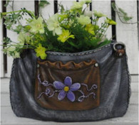 "CRL377P – Polyresin jeans purse planter 10.5""x7""x6""H(min.1,4/crtn) (5% off on case size)"