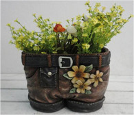 "CRL369PN """" Polyresin pants planter 10.5""x7""x8""H(min.1,6/crtn)  (5% off on case size)"