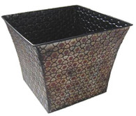 "CTF402SL Square & flared metal container - honeycomb design 11""x11""x9""H (min 2, 10/crtn)"