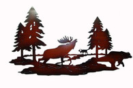 "Metal wild moose wall decor 24.5""x14.25""H"