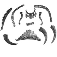 Warhammer Bits: Seraphon Carnosaur - Tails/ Ridges/Collar/Reins