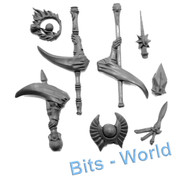 WARHAMMER BITS - HIGH ELVES ARCHMAGE & MAGE - WIZARD STAVES