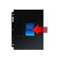 Ultra PRO: 18-Pocket Platinum Side Load Page with Black Background (50)