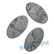 WARHAMMER BITS: SHATTERED DOMINION BASES - 90MM OVAL BASES X3