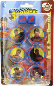 HeroClix: DC - Superman and Wonder Woman Dice & Token Pack (Superman)