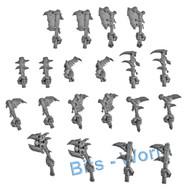 Warhammer Bits: Bonesplitterz Savage Boarboys - Choppas (10 Pair)