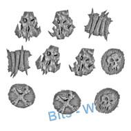 Warhammer Bits: Bonesplitterz Savage Boarboys - Bone Shields X10