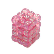 Chessex: Borealis: 12mm D6 Pink/Sliver (36)
