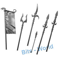 Warhammer Bits: Scourge Privateers Scourgerunner Chariot - Banner and Spears