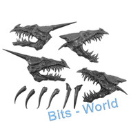 WARHAMMER BITS - DARK ELVES BLACK DRAGON - HEADS 2x
