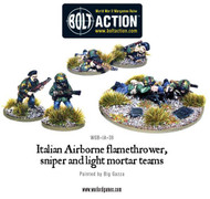 Bolt Action: Italy - Airborne  Flamethrower, Sniper, and Light Mortar Teams