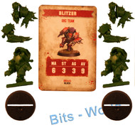 Warhammer Bits: Blood Bowl Blood Bowl Core Game - Orc Blitzer X2