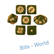 Warhammer Bits: Blood Bowl Blood Bowl Core Game - Orc Dice