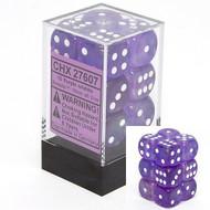 Chessex: Borealis: 16mm D6 Purple/White (12)
