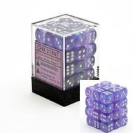Chessex: Borealis: 12mm D6 Purple/White (36)