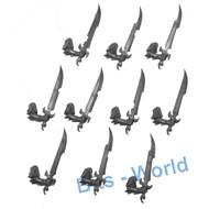 WARHAMMER BITS: DARK ELVES DREADSPEARS - SWORDS 10x