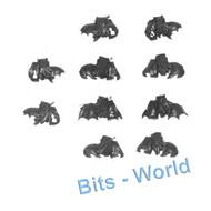 Warhammer Bits: Nighthaunt Hexwraiths/Black Knights - 5x Knight Legs & Barding