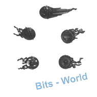 WARHAMMER BITS: VAMPIRE COUNTS MORTIS ENGINE/COVEN THRONE - 5x SPIRIT SHIELDS