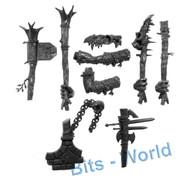 Warhammer Bits: Aleguzzler Gagants Gargant - Right Arms & Weapons