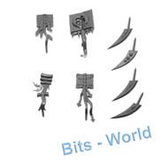 Warhammer/40k Bits: Chaos Daemon Burning Chariot - Books Upgrade for Disc