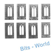 WARHAMMER 40K BITS: TERRAIN BASILICA - 8x WINDOW WALLS