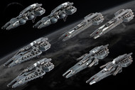 Dropfleet Commander: UCM Frigate Box