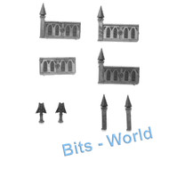 WARHAMMER 40K BITS: TERRAIN BASILICA - 4x FENCES