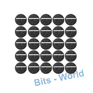 WARHAMMER 40K BITS: 25mm ROUND SLOTTED BASES - 25mm ROUND SLOTTED BASES x25