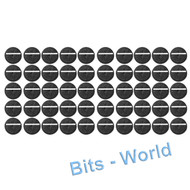 WARHAMMER 40K BITS: 25mm ROUND SLOTTED BASES - 25mm ROUND SLOTTED BASES x50