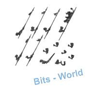 Warhammer Bits: Nighthaunt Hexwraiths/Black Knights - 5x Lances & Banner/Sword/Musician