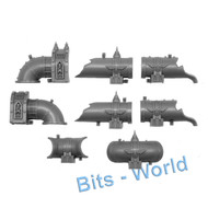 WARHAMMER 40K BITS: TERRAIN PROMETHIUM RELAY PIPES - SHORT PIPES X4