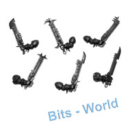 WARHAMMER 40K BITS: CHAOS SM RAPTOR/W TALON - CHAIN SWORDS 5x/POWER SWORD 1x