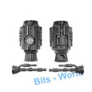 Warhammer 40k Bits: Terrain Galvanic Magnavent - Tank & Smokestacks