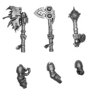 WARHAMMER 40K BITS: CHAOS SM PLAGUE MARINES - BUBOTIC AXES & MACE OF CONTAGION