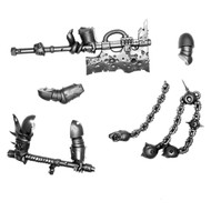 WARHAMMER 40K BITS: CHAOS SM PLAGUE MARINES - FLAIL OF CORRUPTION & GREAT PLAGUE CLEAVER